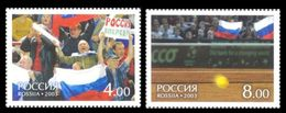 Russia 2003 Davis Cup 2002 Sports Tennis Ball Court Bersy Hall Fans Tribunes Flags Stamps MNH Mi 1061-1062 SC 6749-6750 - Stamps