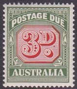 Australia Postage Due Stamps SG D134 1969 Three Pennies No Watermark Mint Never Hinged - Postage Due
