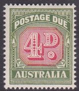 Australia Postage Due Stamps SG D135 1958 Four Pennies No Watermark Mint Never Hinged - Postage Due