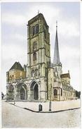 Auxonne (Côtes D'Or) - Cathédrale N.-D. - Collection Perrin - Carte Combier Colorisée, Non Circulée - Auxonne