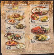O) 2016 TURKEY, FOODS - GAZIANTEP CITY OF GASTRONOMY DESIGNATED UNESCO, CREATIVE CITY IN 2015, SOUVENIR MNH - 1921-... Repubblica