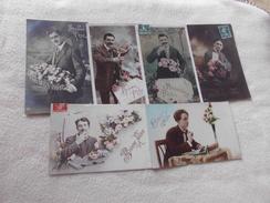 LOT DE 6 CARTES FANTAISIES ...HOMMES....BONNE FETE - Cartes Postales