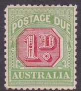 Australia Postage Due Stamps SG D78  1912-23 One Penny Mint - Postage Due