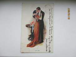 THE KISS  , FEMME WOMAN , ART DECO  , OLD POSTCARD , 0 - Illustrateurs & Photographes