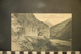 CP, 04,  Route De BARCELONNETTE .- Tunnel D' UBAYE - Francia