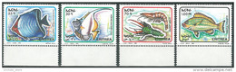 ERITREA Erythrée 1995 MNH ** Fishes - Horned Butterfly Fish - Gonochaetodon - Shrimps - Eritrea