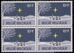Belgium 2067** X 4  Noel & Nouvel An  MNH - België