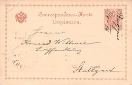 ÖSTERREICH - POSTKARTE 2 HELLER 1896 (SLOWENISCH) BUGOJNO -> STUTTGART - Enteros Postales