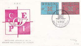 Belgium 1963 FDC Europa CEPT (DD2-45) - Europa-CEPT