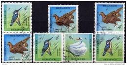 Rote Buch Tierschutz 1993 Weißrußland 43/5+ 2x ZD O 2€ Schwan Adler Eisvogel WWF Bird Bloc Fauna Se-tenants Belarus - Belarus