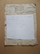 LOT CACHET GENERALITE 1703 TOURS Acte Sur VOUZAILLES 1706 Inventaire De Terres Très Détaillé Sur 4 Pages - Cachets Généralité