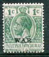 British Honduras 1916 KGV - WAR Overprint - 1c Green - Violet Overprint - LHM (SG 114) - British Honduras (...-1970)