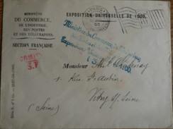 Flammes Paris Drapeau - Marcophilie (Lettres)