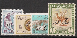 Soudan - 1962 - Service - N°Yv. 102a - 103a - 109a - 114a - Sans Filigrane - Neuf Luxe ** / MNH / Postfrisch - Soudan (1954-...)