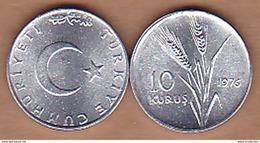 AC - TURKEY - 10 KURUS 1976 ALUMINUM UNCIRCULATED - Turquia