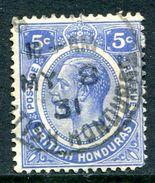 British Honduras 1922-33 KGV (Wmk. Script CA) - 5c Ultramarine Used (SG 131) - British Honduras (...-1970)