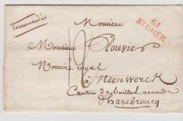 FP196 / FRANKREICH -  St. Omer 1823. Recommandée Mit Sehr Klarem Stempel. - Marcophilie (Lettres)