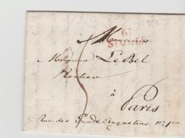 FP195 / FRANKREICH -  St. Omer 1822 Nach Paris. Kleiner Kompletter Brief. - 1801-1848: Precursors XIX