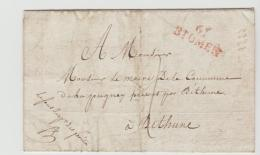 FP194/ FRANKREICH -  St. Omer 1823 Nach Bethune - Marcophilie (Lettres)