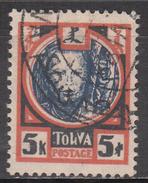 TANNU TUVA     SCOTT NO. 19    USED   YEAR  1927 - Tuva