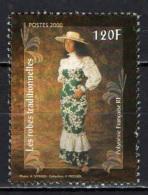 POLINESIA FRANCESE - 2002 - FOLCLORE: ABITO TRADIZIONALE POLINESIANO - USATO - Usati