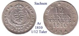 DL-1810, 1/12 Taler,  Sachsen - Piccole Monete & Altre Suddivisioni