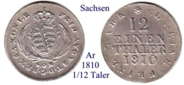 DL-1810, 1/12 Taler,  Sachsen - [ 1] …-1871 : Stati Tedeschi