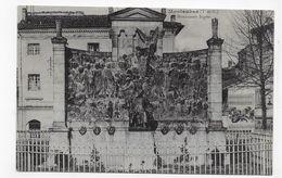 (RECTO / VERSO) MONTAUBAN EN 1916 - MONUMENT INGRES - CPA VOYAGEE - Montauban
