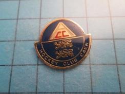 Pin412b Pin's Pins : Rare Et Belle Qualité :  HCC HOCKEY CLUB DE CAEN CALVADOS NORMANDIE - Sport Invernali
