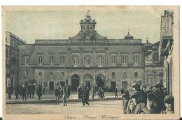 Ostuni -  Palazzo Municipale - Animata  Viagg 1933 - Brindisi