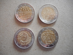 4 FRANSE EURO MUNTEN VAN 2€ - Francia