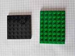 Lot Pièces Lego Plaque Verte Et Noir - Lego