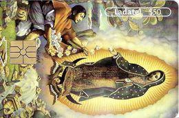 TÉLÉCARTE PHONECARD TARJETAS MEXIQUE  APPARITION DE LA VIERGE  CANONISATION 2002 JUAN DIEGO RELIGION CATHOLIQUE - Mexique