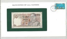 Billet Neuf  , Enveloppe Timbrée Oblitérée ,Thaïlande , Thailand, 10 Bath ,  Frais Fr : 1.95 Euro - Thailand