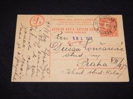 Bulgaria 1924 1.5d Orange Stationery Card To Praha__(L-2626) - Enteros Postales