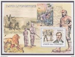 0570 Comores 2008 David Livingstone Explorer Lion Afric S/S MNH - Onderzoekers