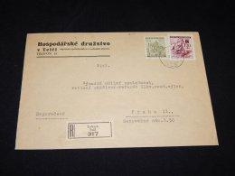 Böhmen Mähren 1942 Teltsch Registered Cover To Praha__(L-2071) - Bohemia & Moravia