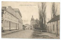 CPA MERBES LE CHATEAU, RUE ST SAINT MARTIN, PROVINCE DE HAINAUT, BELGIQUE - Merbes-le-Château