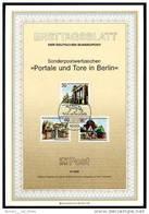 Berlin - ETB (Ersttagsblatt) 8/1986 Michel 761 / 763 - Portale Und Tore - Wert 4,00 Mi€ - Ex 1,12€ PP - [5] Berlijn