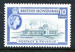 British Honduras 1953-62 QEII Pictorials - 10c Stanley Airfield - P.13½ X 13 - VLHM (SG 184a) - Honduras Britannique (...-1970)