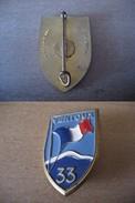 Insigne : Chantier De Jeunesse : CJF33 (original Attache D'origine) : TBE - Army