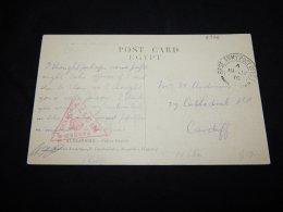 Egypt 1916 O.A.S. Card To Cardiff__(L-2326) - Egypt