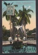 Cuba: PPC Picture Postcard To Belgium, 1914, 1 Stamp, Card: Parque Colon, Columbus Park Havana (traces Of Use) - Cuba
