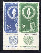 NAZIONI UNITE NEW YORK 1955, Unificato Serie 38/39  ***  MNH. Appendice - New York -  VN Hauptquartier