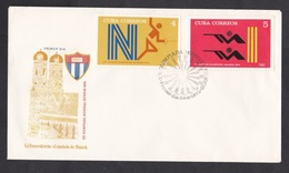 Cuba: FDC First Day Cover, 1972, 2 Stamps, Olympics Munich, Shooting, Fencing, Sports (traces Of Use) - Cuba