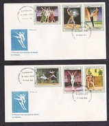 Cuba: 2x FDC First Day Cover, 1976, 6 Stamps, Ballet Festival, Dance (traces Of Use) - Cuba