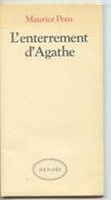 """Maurice Pons : L'enterrement D'Agathe - 1984 édition Denoël Nouvelle Extraite """"Douce Amère"""" - Franse Schrijvers"""
