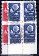 NAZIONI UNITE NEW YORK 1957, Unificato Serie 48/49  ***  MNH. QUARTINE - Ungebraucht