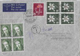 PRO JUVENTUTE - 1947 Brief Von Zürich Nach Faisfield USA,  SBK-J117 VB / J118 VB / J117 - Pro Juventute