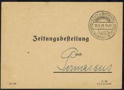 """DR Sport 1928 Seltener Sonderstempel """"2. Turn- U. Sportwoche Oberhausen"""" - Briefmarken"""